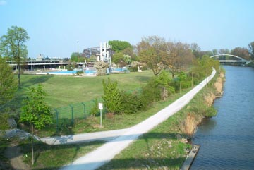 canal and swimming pool